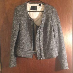 Maison Scotch tweed blazer gray/silver SZ 4